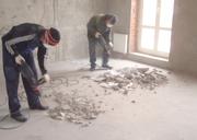 Демонтаж бетонной стяжки пола в Воронеже,  снос бетонной стяжки Воронежская область